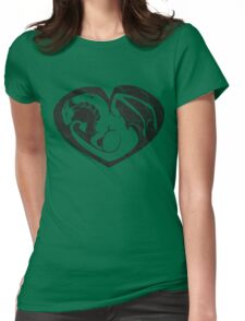 Dragon@Heart Large Womens Fitted T-Shirt