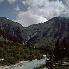 Coming near Oberwald Ober Alp express Switzerland 19840812 0003 by Fred Mitchell