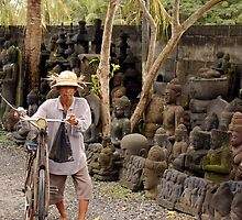 Balinese Cyclist by Michael Naylor