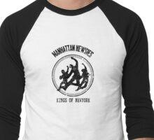 Manhattan Newsies Men's Baseball ¾ T-Shirt