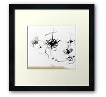 zip head Framed Print