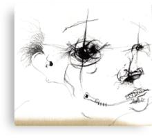 zip head Canvas Print