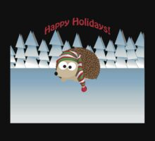 Happy Holidays! Winter Hedgehog Baby Tee
