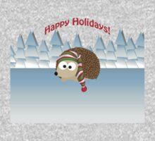 Happy Holidays! Winter Hedgehog One Piece - Long Sleeve