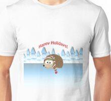 Happy Holidays! Winter Hedgehog Unisex T-Shirt