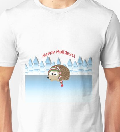 Happy Holidays! Winter Hedgehog Unisex T-Shirt