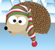 Happy Holidays! Winter Hedgehog Sticker