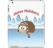 Happy Holidays! Winter Hedgehog iPad Case/Skin