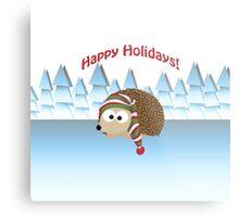 Happy Holidays! Winter Hedgehog Metal Print