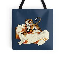 Tiger in Bed Tote Bag