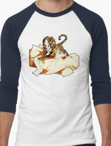 Tiger in Bed Men's Baseball ¾ T-Shirt