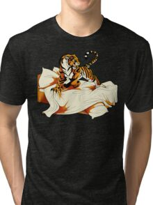Tiger in Bed Tri-blend T-Shirt