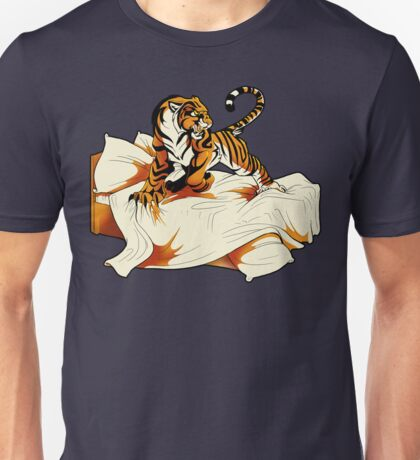 Tiger in Bed Unisex T-Shirt