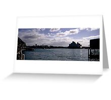 Sydney Opera House Silhouetted Greeting Card