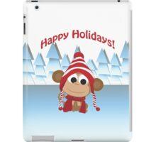 Happy Holidays! Winter Monkey iPad Case/Skin