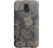 Wolf Floral in Grey Samsung Galaxy Case/Skin