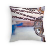 Rusted Crane Throw Pillow