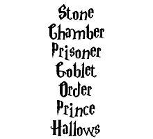 Harry Potter Books Photographic Print