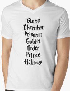 Harry Potter Books Mens V-Neck T-Shirt