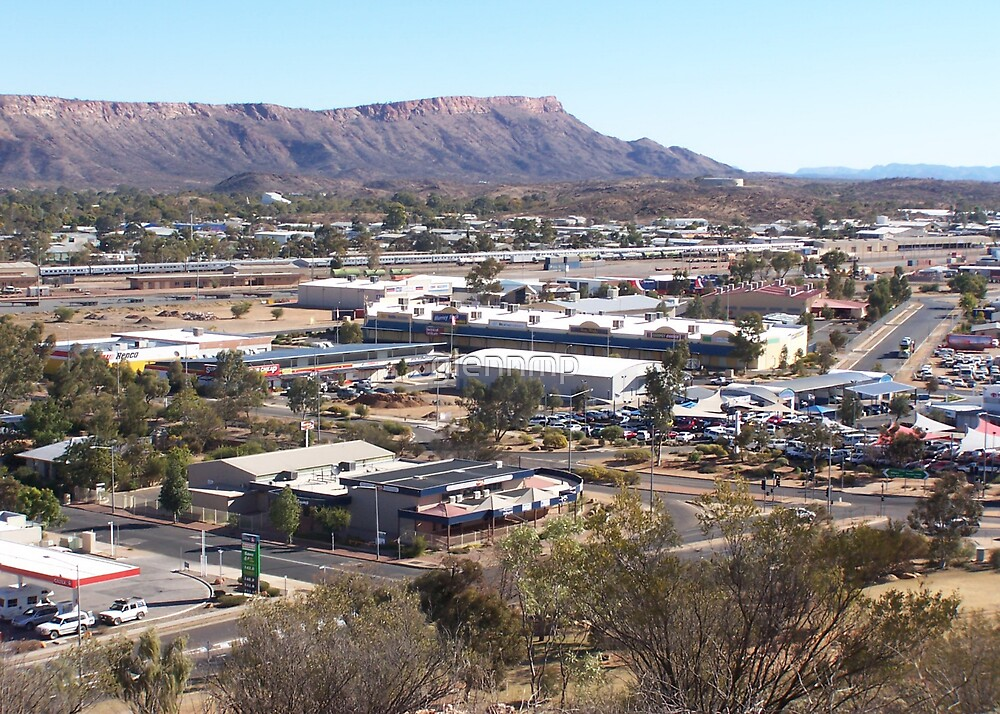 Overlooking Alice Springs by glennmp