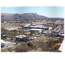 Overlooking Alice Springs Poster