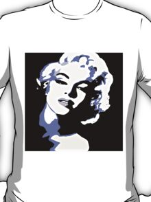 Marilyn Beauty and Blue Shadows T-Shirt