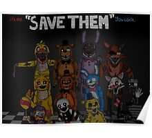 "Five Nights at Freddy's ""Save Them"" Poster"