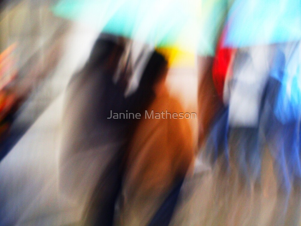 under the umbrella by Janine Matheson