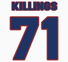 National football player Cedric Killings jersey 71 by imsport