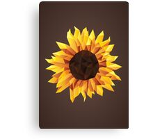 Polygonal Sunflower Canvas Print