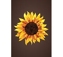 Polygonal Sunflower Photographic Print