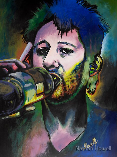 Shane Mcgowan acrylic painting by Nathan Howell
