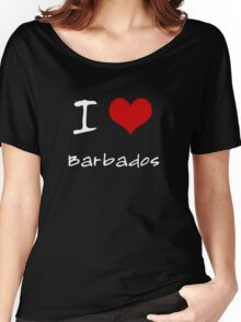 I love Heart Barbados Women's Relaxed Fit T-Shirt