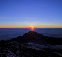 Sunrise from the Summit of Mount Kilimanjaro by Ryan Jennings