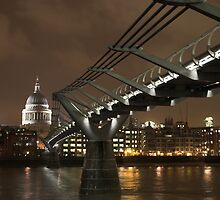 The Millennium Bridge and St Pauls  by Ryan Jennings