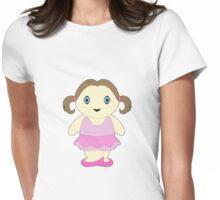 Chubby Ballerina Womens Fitted T-Shirt