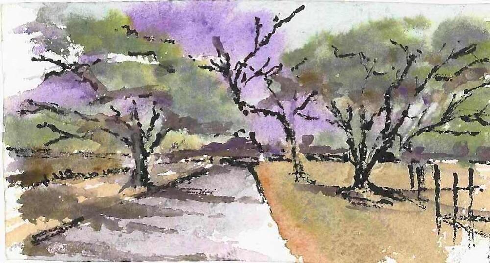 purple horizon by elsa