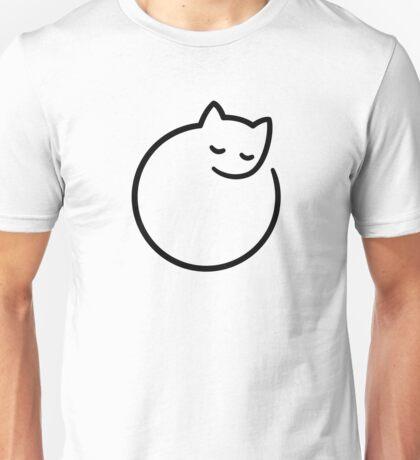 Minimal cat (white) Unisex T-Shirt