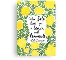The Fresh Lemon Canvas Print
