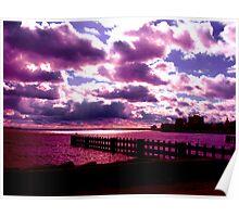 Purple Sunset Poster