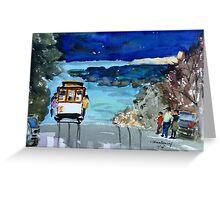 San Francisco trolley Greeting Card