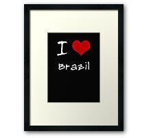 I love Heart Brazil Framed Print