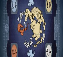 Avatar: The Last Airbender World Map by Hailey53098