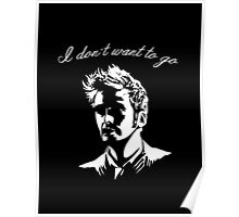 Tenth Doctor - I don't want to go Poster