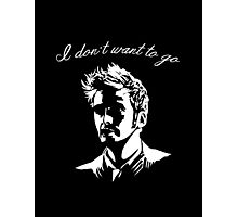 Tenth Doctor - I don't want to go Photographic Print