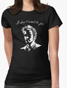 Tenth Doctor - I don't want to go Womens T-Shirt