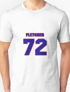 National football player Jabari Fletcher jersey 72 T-Shirt