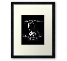 Ninth Doctor - Fantastic Framed Print