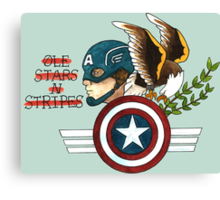 Captain America Tattoo Flash Canvas Print