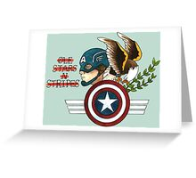 Captain America Tattoo Flash Greeting Card